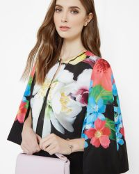 Ted Baker | Black Forget Me Not Cape | Lyst
