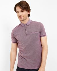 Ted Baker - Multicolor Flat Knit Collar Polo for Men - Lyst