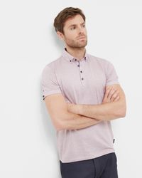 Ted Baker - Multicolor Spotted Cotton Polo Shirt for Men - Lyst