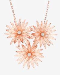 Ted Baker | Pink Starburst Flower Necklace | Lyst