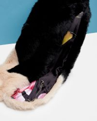 Ted Baker - Black Two Tone Faux Fur Scarf - Lyst