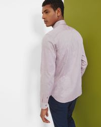 Ted Baker - Red Cotton Oxford Shirt for Men - Lyst