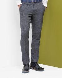 Ted Baker | Gray Cerstro Tailored Trousers for Men | Lyst