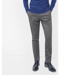 Ted Baker | Gray Wool Mix Trouser In Slim Fit for Men | Lyst
