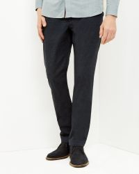 Ted Baker - Blue Classic Fit Pants for Men - Lyst