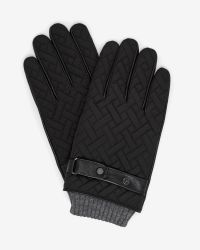 Ted Baker | Black Crosshatch Quilted Gloves for Men | Lyst