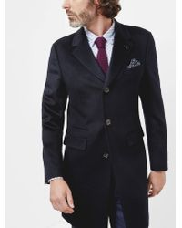 Ted Baker | Blue Three Button Overcoat for Men | Lyst