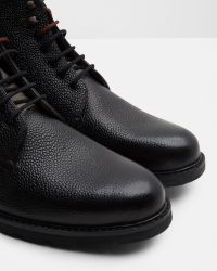 Ted Baker - Black Pebble Grain Leather Ankle Boots for Men - Lyst