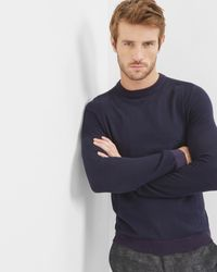 Ted Baker - Blue Textured Crew Neck Top for Men - Lyst