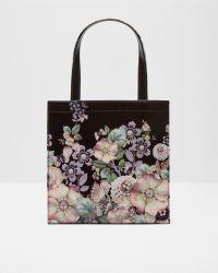 Ted Baker | Black Gem Gardens Small Shopper Bag | Lyst