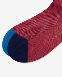 Ted Baker - Red Geo Print Socks for Men - Lyst
