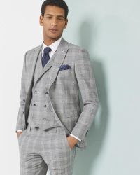 Ted Baker | Gray Debonair Checked Wool-blend Jacket for Men | Lyst