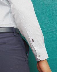 Ted Baker | Blue Dotted Design Shirt for Men | Lyst