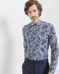Ted Baker | Blue Floral And Paisley Cotton Shirt for Men | Lyst