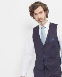 Ted Baker | Purple Debonair Checked Wool Waistcoat for Men | Lyst