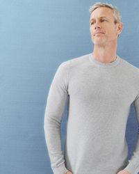 Ted Baker | Gray Ribbed Crew Neck Jumper for Men | Lyst