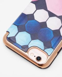 Ted Baker - Blue Marina Mosaic Iphone 6/6s/7 Book Case - Lyst