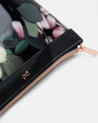 Ted Baker - Black Kensington Floral Patent Cosmetic Bag - Lyst