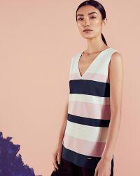 Ted Baker | White Colour-block Knitted Vest | Lyst