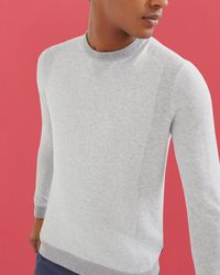 Ted Baker - Gray Textured Crew Neck Top for Men - Lyst