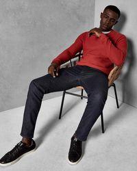 Ted Baker - Blue Straight Fit Brushed Denim Jeans for Men - Lyst