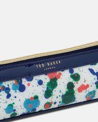 Ted Baker - White Cbn Splash Print Pencil Case - Lyst
