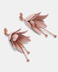 Ted Baker - Pink Tbj1754 Fuchsia Drop Earring - Lyst