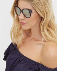 Ted Baker - Purple Marble Oversized Oval Sunglasses - Lyst