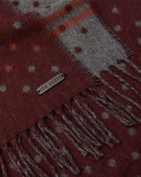 Ted Baker - Red Spotted Scarf for Men - Lyst