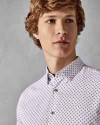 Ted Baker - White Geo Shirt for Men - Lyst