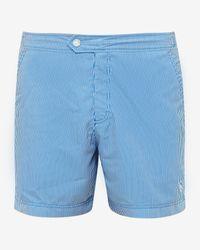 Ted Baker - Blue Striped Swim Shorts for Men - Lyst