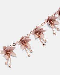 Ted Baker - Pink Fuchsia Chain Bracelet - Lyst