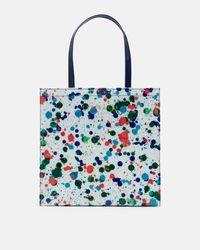e934aad5a9509e Lyst - Ted Baker Cbn splash Print Shopper Bag in White