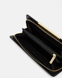 Ted Baker - Black Bar Detail Leather Matinee Purse - Lyst