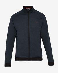 Ted Baker - Blue Mouliné Zip Through Jacket for Men - Lyst