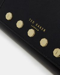 Ted Baker - Black Studded Detail Leather Matinee Purse - Lyst