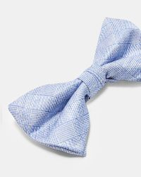 Ted Baker - Blue Subtle Check Silk Bow Tie for Men - Lyst