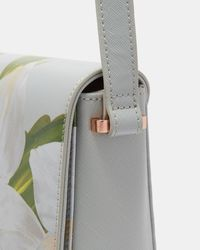 Ted Baker - Gray Chatsworth Bloom Cross Body Bag - Lyst
