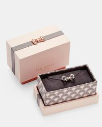 Ted Baker - Metallic Bow Sterling Silver Pendant Necklace - Lyst