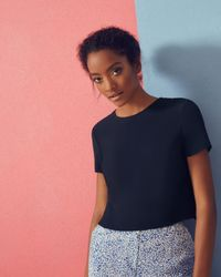Ted Baker | Blue Cross Back Cropped Top | Lyst