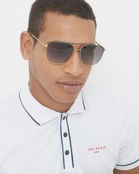 Ted Baker - Green Square Sunglasses for Men - Lyst