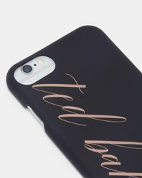 Ted Baker - Black Logo Iphone 6/6s/7/8 Clip Case - Lyst