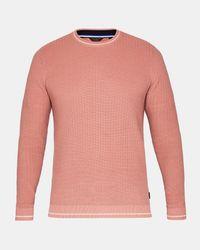Ted Baker - Pink Textured Stitch Jumper for Men - Lyst