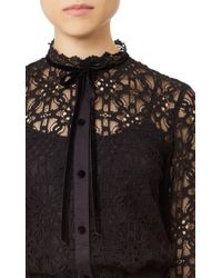 Temperley London - Black Eclipse Lace Shirt - Lyst