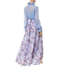 Temperley London - Purple Costume Silk Shirt - Lyst