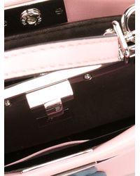 Fendi - Metallic Micro Peekaboo Appliquéd Leather Bag  - Lyst