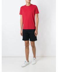 Emporio Armani - Blue Canvas Shorts for Men - Lyst