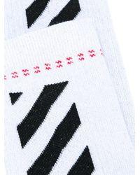 Off-White c/o Virgil Abloh - Multicolor Two-coloured Striped Socks - Lyst