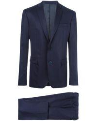 Versace | Blue Formal Suit for Men | Lyst