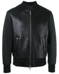 Neil Barrett | Black Leather Bomber Jacket for Men | Lyst